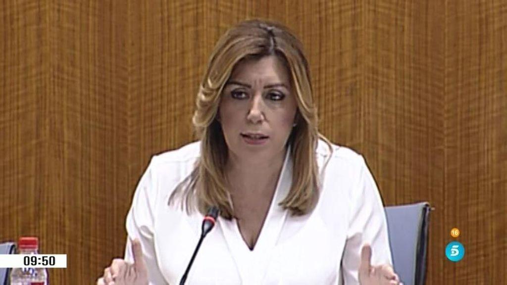 """Susana Díaz """"No estaba en el gobierno en la etapa que se va a investigar"""""""
