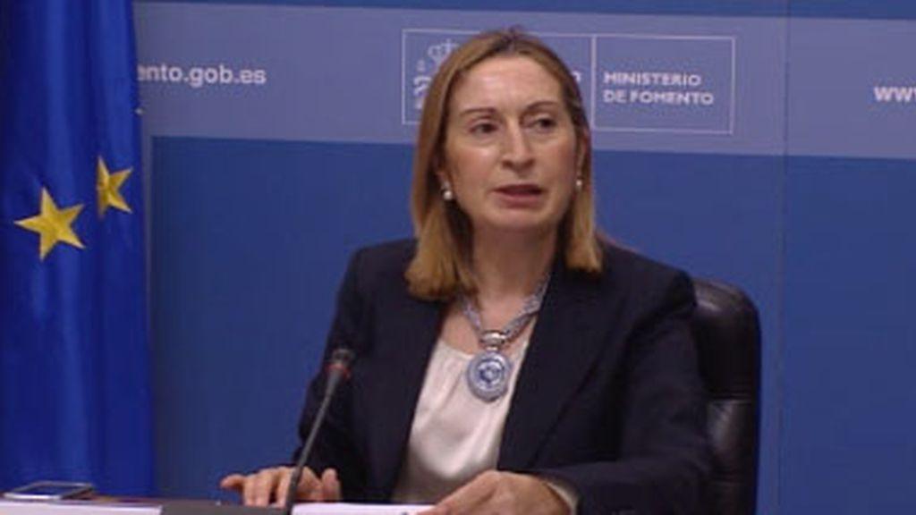La ministra de Fomento, Ana Pastor,