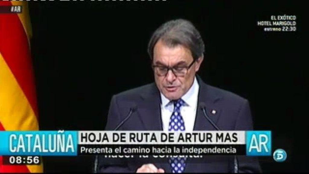 Artur Mas presenta su hoja de ruta para llegar a la independencia en 18 meses
