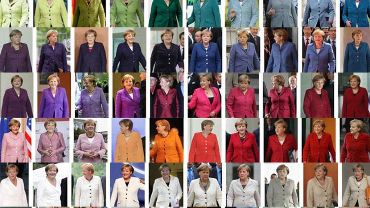 Pantone de chaquetas de Angela Merkel