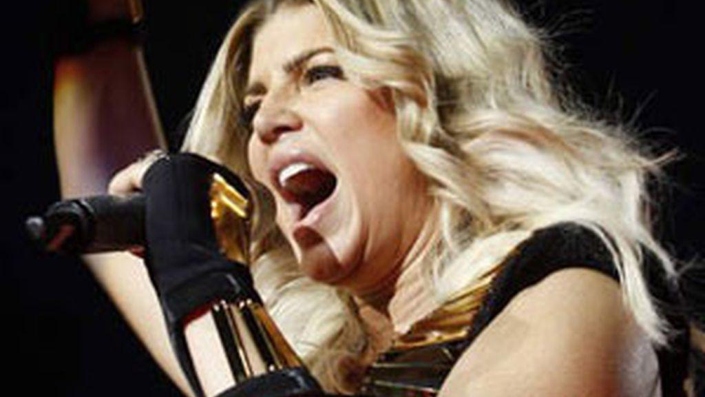 Fergie, la cantante de Black Eyed Peas durante un concierto este verano en Madrid. EFE