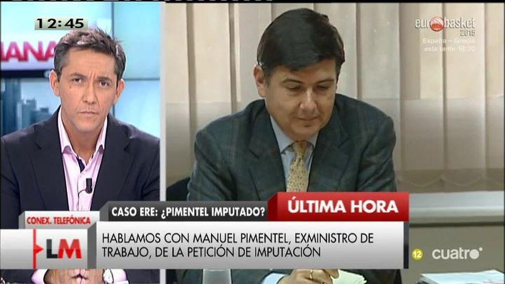 """Pimentel: """"Soy inocente de cualquier situación ilegal o dolosa"""""""