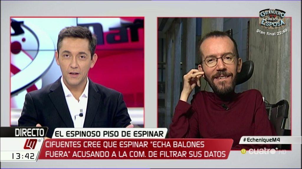 """Pablo Echenique: """"A los del Partido Popular se les está empezando a ir la olla"""""""