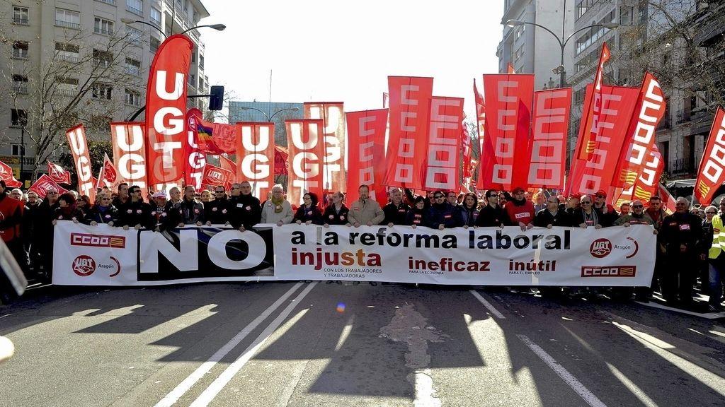 Manifestación en Zaragoza. Foto: EFE