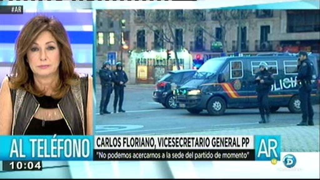 """Carlos Floriano: """"No ha habido ningún tipo de daño personal"""""""
