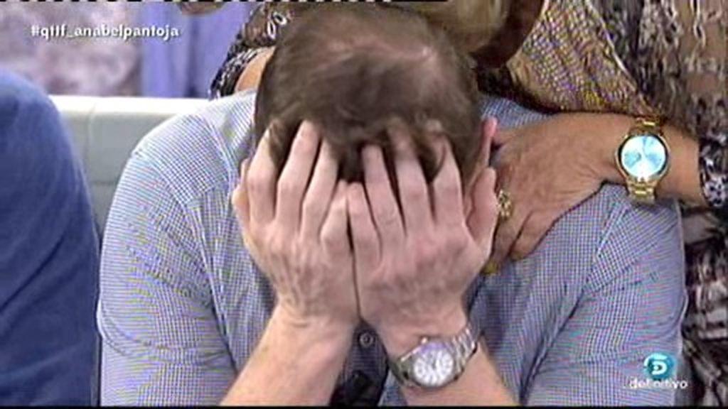 Jorge Cadaval rompe a llorar por el cariño de '¡QTTF!' tras la muerte de su madre