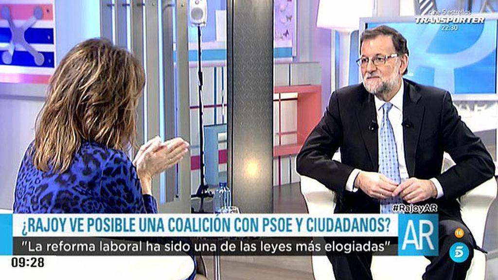 """Mariano Rajoy: """"La mejor fórmula para España es un gobierno de coalición"""""""