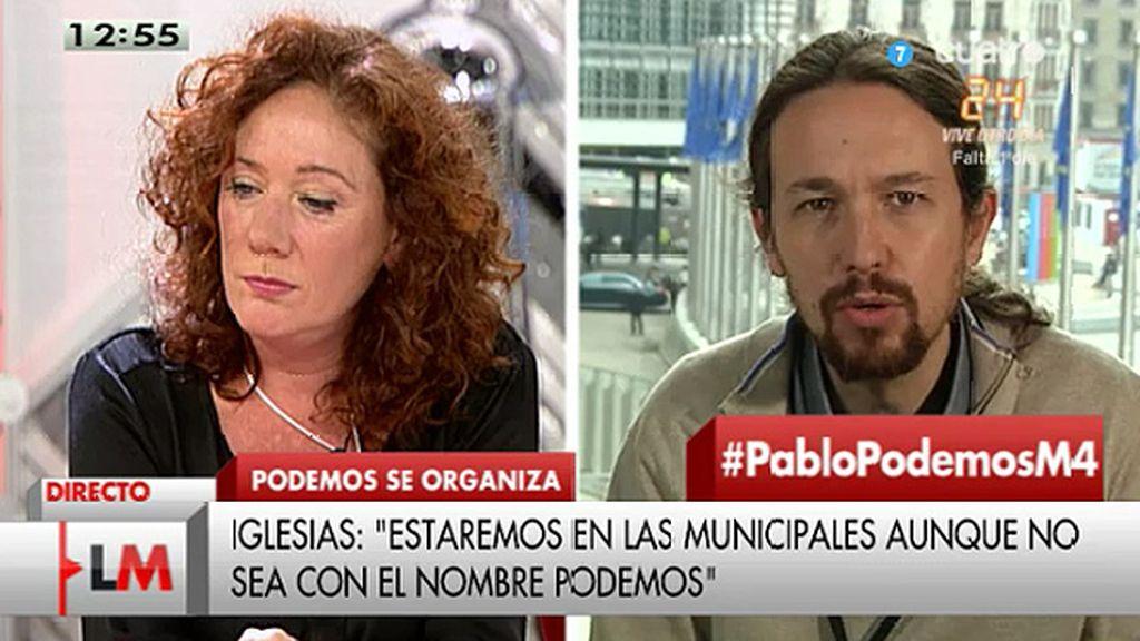 """Iglesias: """"Vamos a estar en las municipales, otra cosa es que discutamos si conviene estar con el nombre de Podemos o con otros"""""""