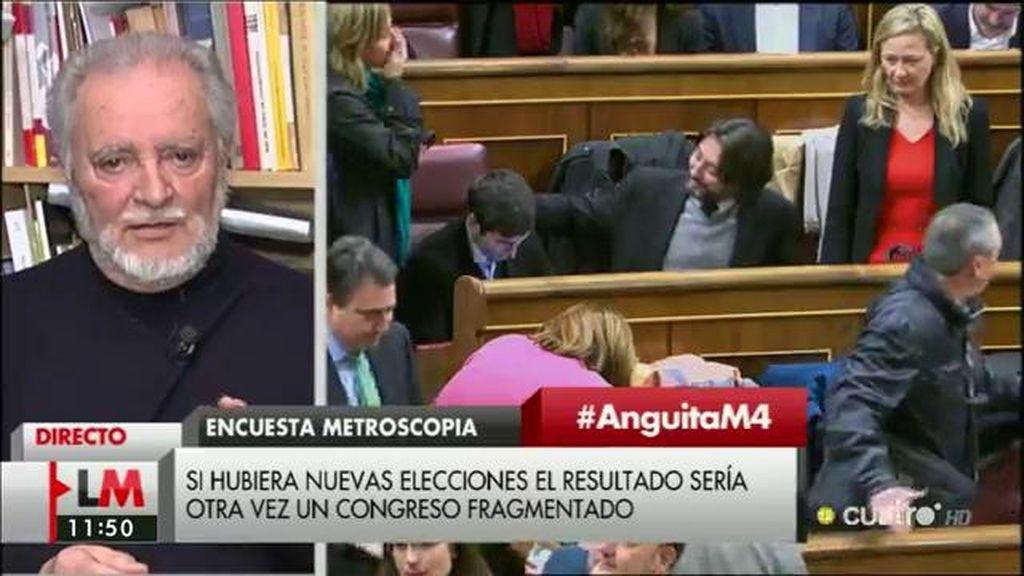 """Anguita: """"El problema es que todos quieren formar gobierno, pero no dicen para qué"""""""
