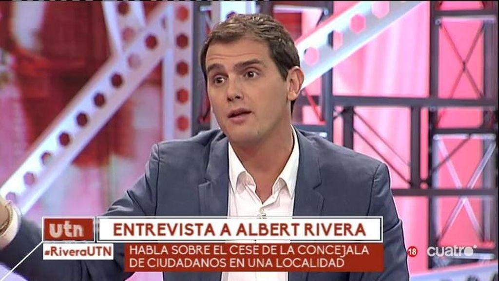 """Rivera: """"No podemos convertirnos en otro PP u otro PSOE en temas de corrupción"""""""
