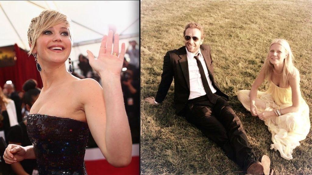 Paltrow y Martin, la historia de unos ex de cuento (con Jennifer Lawrence en escena)