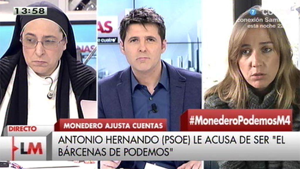 """T. Sánchez, a A. Hernando: """"El PSOE hace malabares para meterse en los debates"""""""