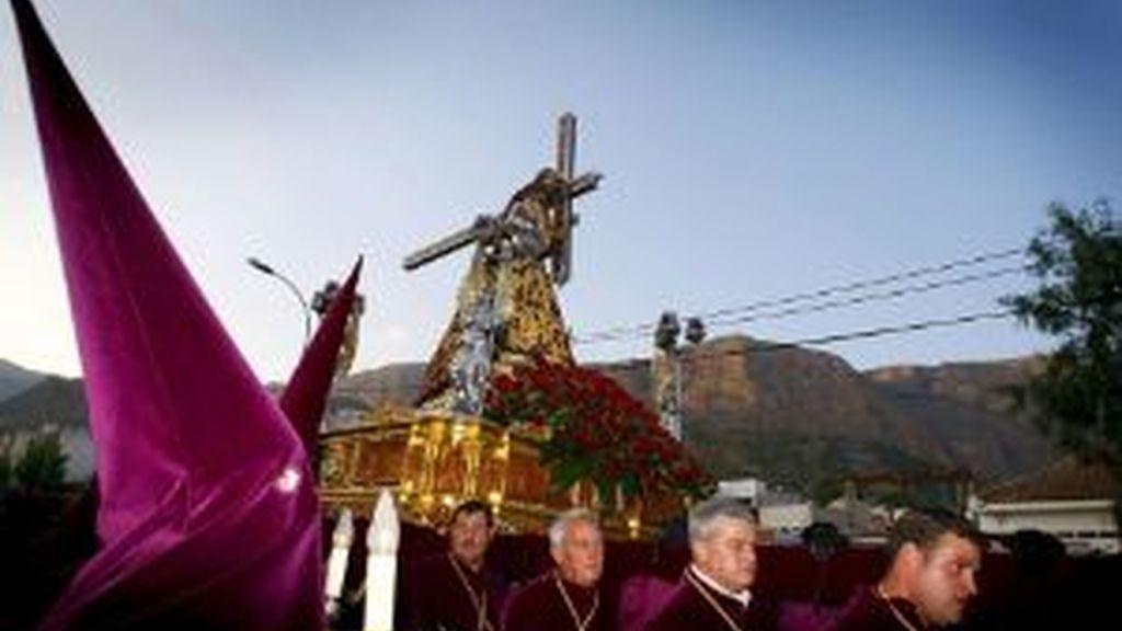 Imagen del Nazareno en una procesión. archivo EFE