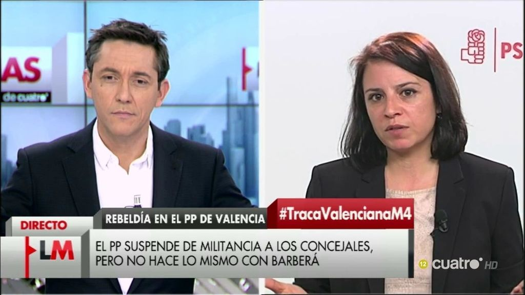 """Adriana Lastra, de Podemos: """"Parece que de lo que quieren hablar ellos es de sillones otra vez y no de políticas"""""""