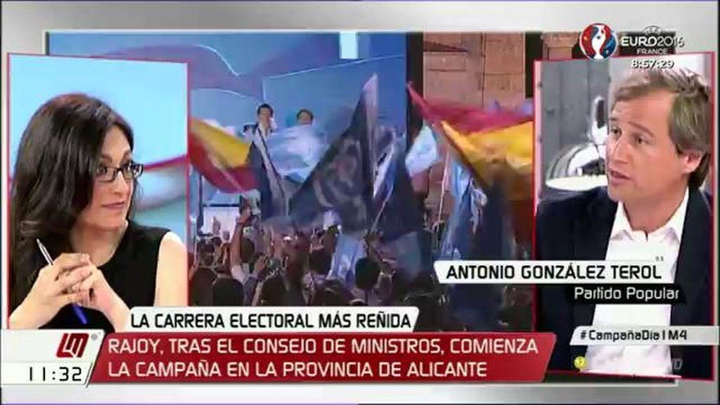 """A. González Terol (PP): """"Ninguno de los tres ha dicho con quién va a pactar, sólo el PP"""""""
