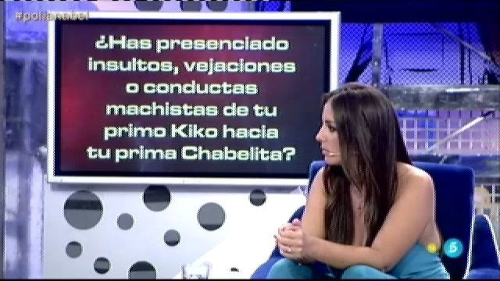 "Anabel Pantoja: ""He presenciado conductas machistas de Kiko Rivera hacia Chabelita"""