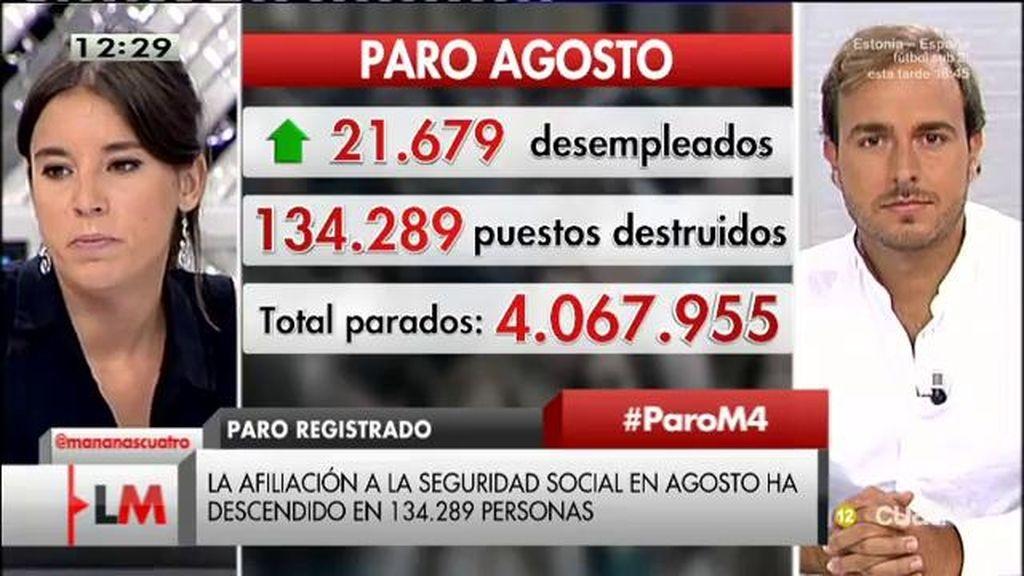 """Irene Montero: """"Los datos de los que habla el gobierno tienen fines electoralistas"""""""