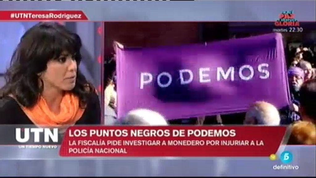 """Teresa Rodríguez: """"Yo condeno sin matices la represión en Venezuela"""""""