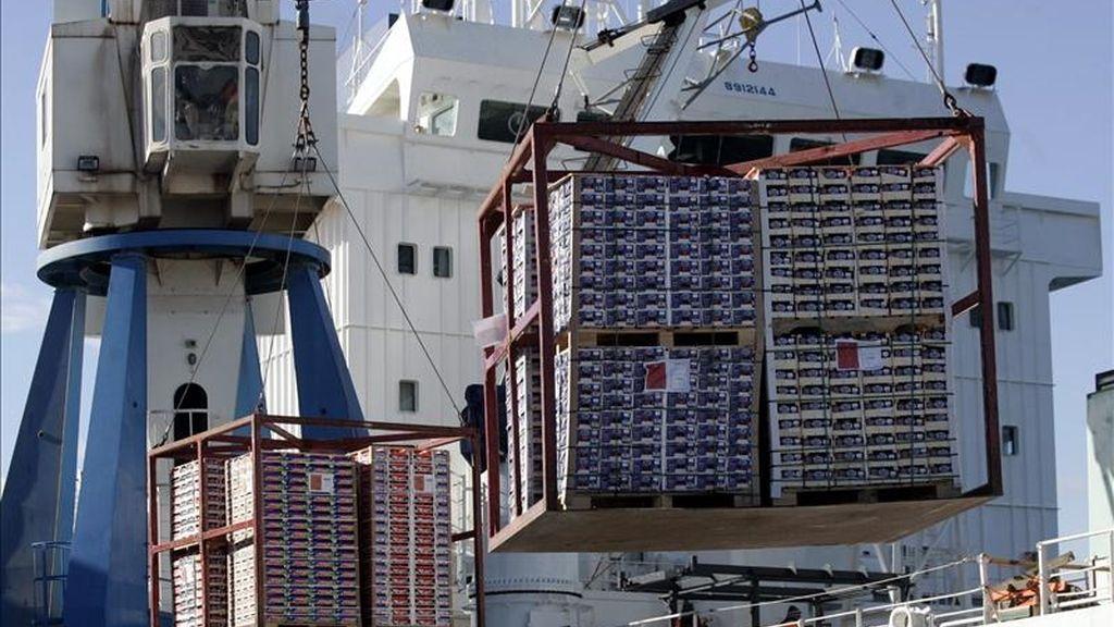 En noviembre, las exportaciones estadounidenses aumentaron un 0,7% y alcanzaron un valor de 159.648 millones de dólares, el más alto desde septiembre de 2008. EFE/Archivo