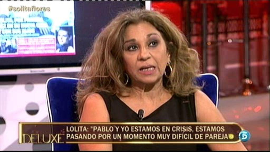 """Lolita Flores: """"Pablo y yo estamos atravesando una crisis de pareja"""""""