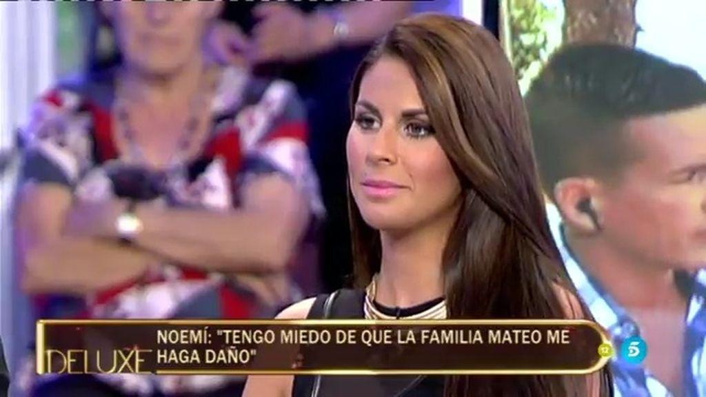 "Noemí, exnovia de Rafa Mateo: ""Temo que la familia Mateo me haga daño"""