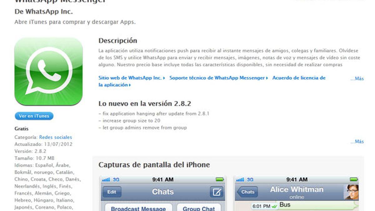 WhatsApp, gratis, iPhone