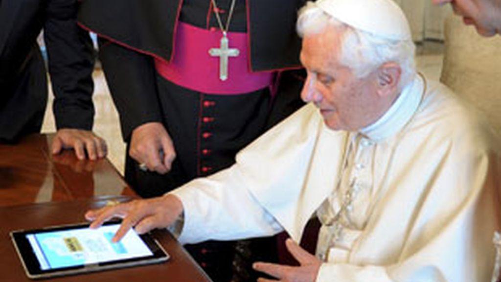 El primer tweet del Papa Benedicto XVI. FOTO:Gtres