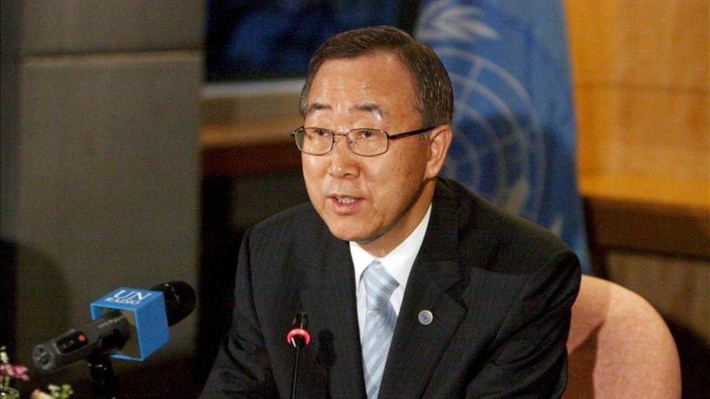 """""""Su urgencia se subraya tras el reciente accidente de la planta nuclear de Fukushima, que ha colocado de nuevo ese asunto a la cabeza de la agenda internacional"""", dijo Ban"""". EFE/Archivo"""
