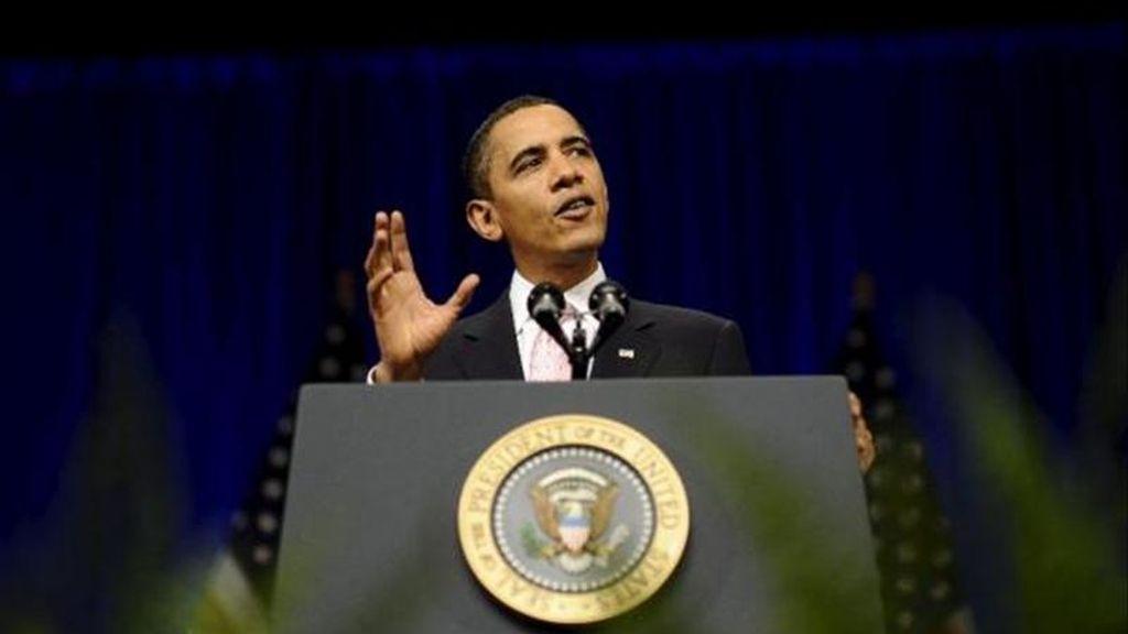 El portavoz de la Casa Blanca, Jay Carney, indicó que Obama (en la imagen) hará referencia en su alocución en el Departamento de Estado a los procesos de agitación civil en el Magreb y Oriente Medio y la respuesta de Estados Unidos. EFE/Archivo