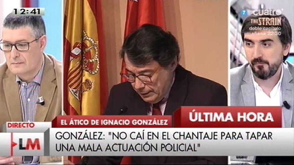 """I. González: """"Con esta información se pretende extorsionarme una vez más para que retire las denuncias que tengo abiertas"""""""