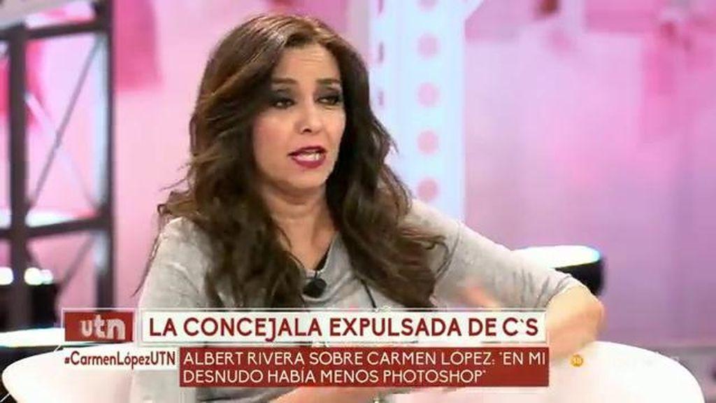 """Carmen López: """"Acudí al último pleno como concejala gracias a salir en Interviu"""""""