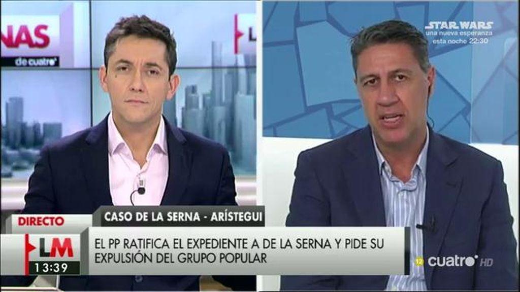 """García Albiol, sobre De la Serna: """"Si se detecta que ha cometido irregularidades, se le suspenderá de la militancia"""""""