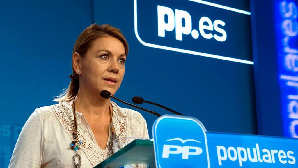 María Dolores de Cospedal aparece en 2008 con dos pagos trimestrales de 7.500 euros