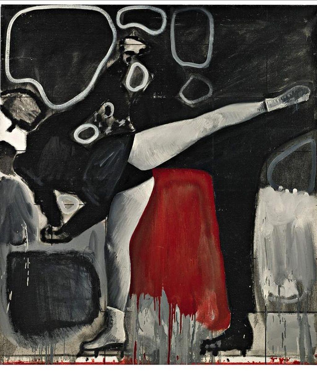 """Fotografía facilitada por Sotheby's de Londres del cuadro """"Eisläuferin"""" (Patinadora), del alemán Gerhard Richter, una de las 59 obras de algunos de los más destacados representantes del arte alemán de los últimos años, George Baselitz, o Sigmar Polke, además de Gerhard Richter, que saldrán a subasta el 29 y 30 de junio próximo. EFE"""