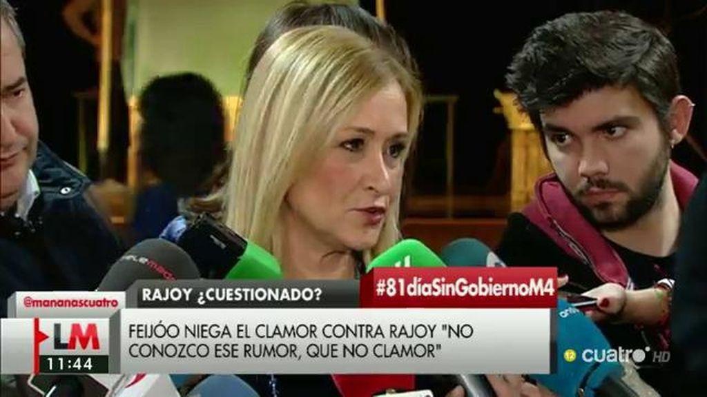 """Cifuentes: """"La opinión mayoritaria del PP es que Rajoy es nuestro candidato"""""""