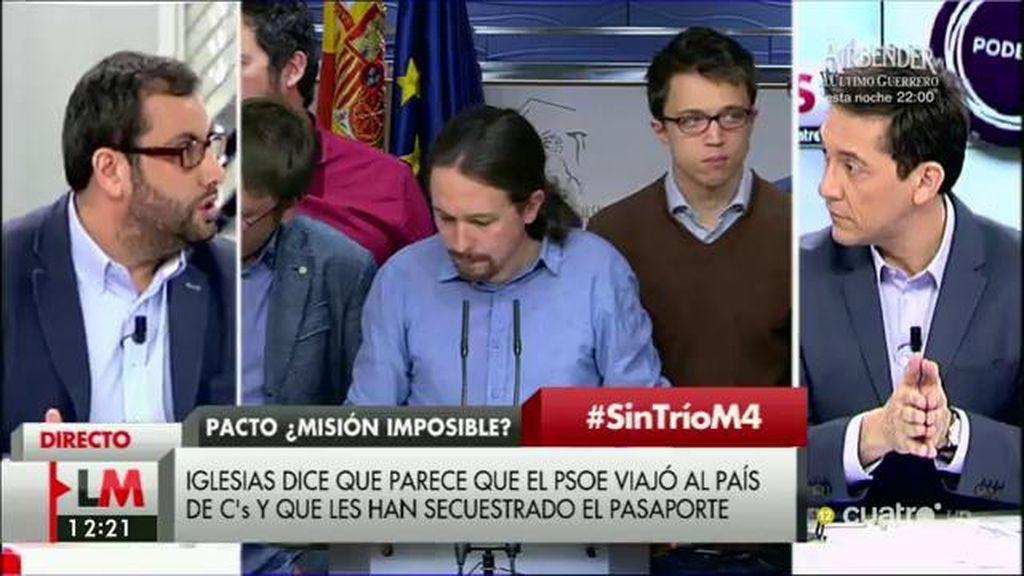 """Iban García (PSOE), sobre Podemos: """"Hay que demostrar voluntad de otra manera"""""""