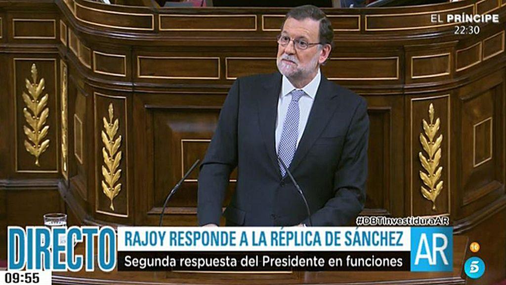 """Rajoy, a Sánchez: """"El responsable de esta situación de bloqueo es usted, no yo"""""""