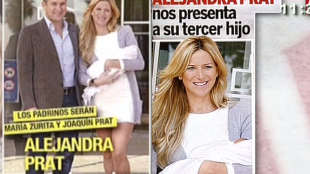 Alejandra Prat, madre por tercera vez