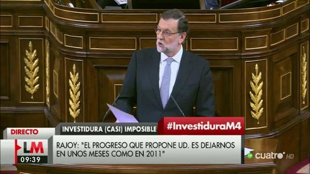"""Rajoy, a Sánchez: """"La RAE define 'bluf' como montaje propagandístico para crear un prestigio que posteriormente se revela falso"""""""