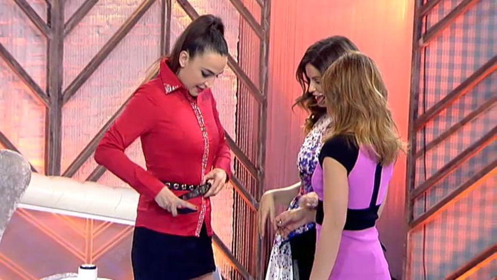 Cristina Rodríguez desfila en nuestra pasarela con la camisa kitsch que le regaló Natalia