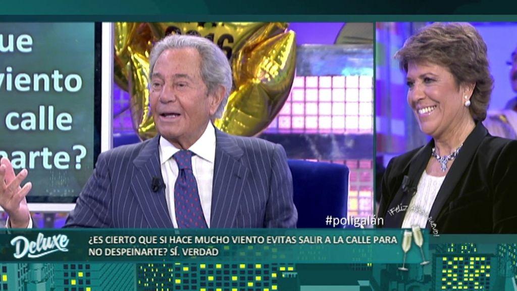 Arturo Fernández evita salir a la calle cuando hace mucho viento para no despeinarse