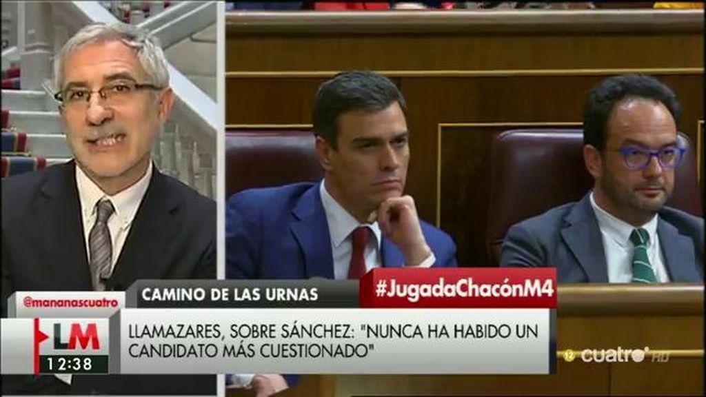 """Llamazares: """"La decición de Chacón es personal, pero tiene consecuencias políticas"""""""