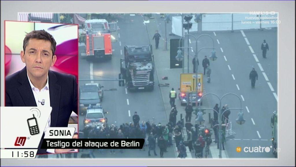 """Sonia, testigo del ataque de Berlín: """"Estamos muy asustados, no nos lo creemos"""""""