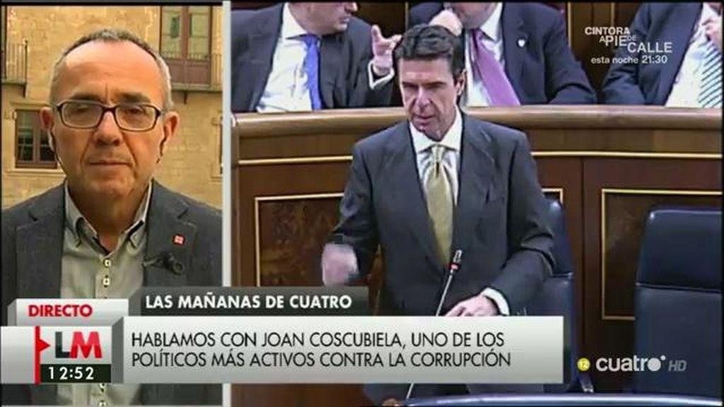 """Joan Coscubiela, tras la dimisión de Soria: """"¿Hasta cuándo el señor Rajoy va a continuar sin asumir responsabilidades?"""""""