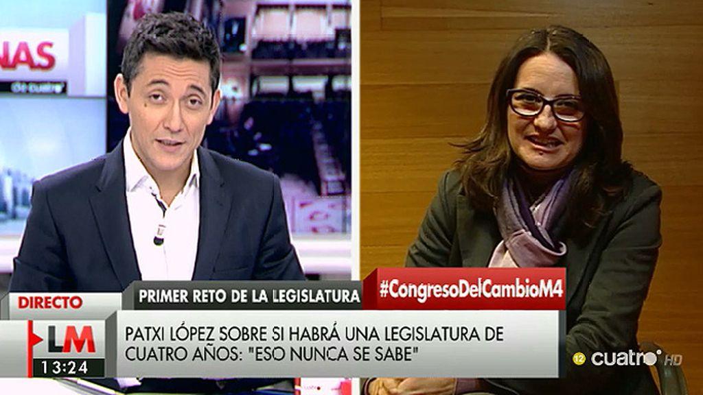 """Mónica Oltra: """"Si de nosotros depende no habrá un gobierno de derechas"""""""