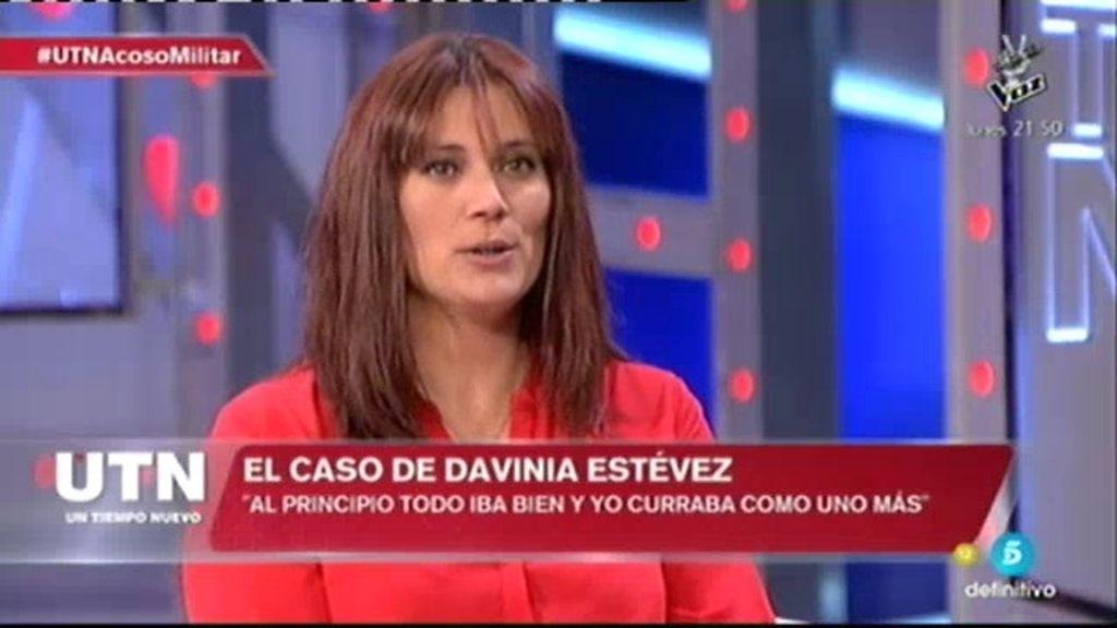 """Davinia: """"En el Ejercito estás integrada en el momento que trabajas como un hombre"""""""