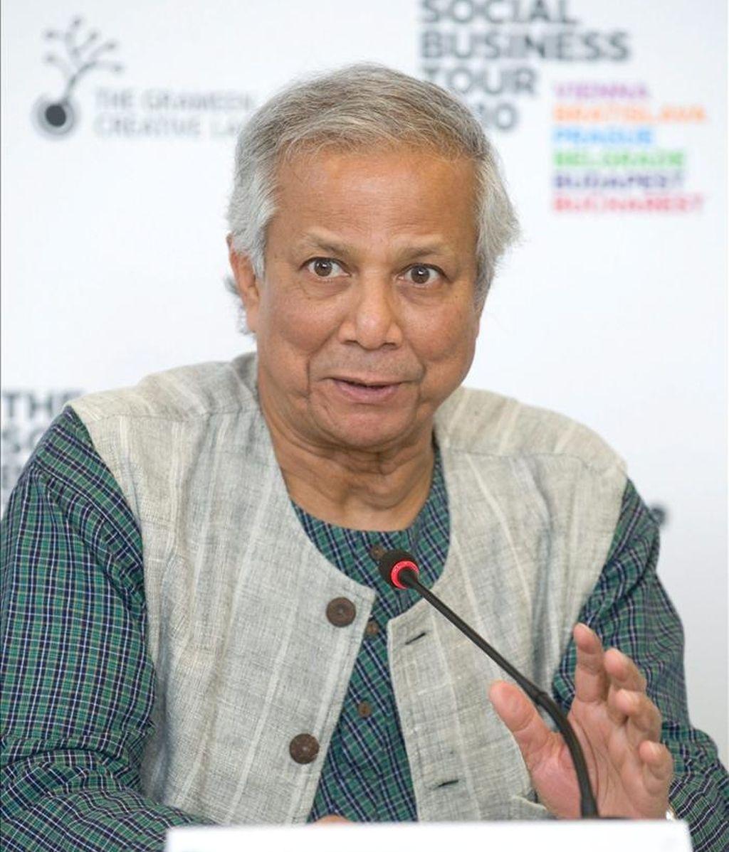 Mohamed Yunus, ganador del Premio Nobel de la Paz, profesor de economía en Bangladesh y fundador del Banco Grameen. EFE/Archivo