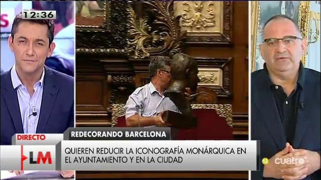 """Antón Losada, sobre la retirada del busto: """"Colau tiene el derecho a hacerlo"""""""