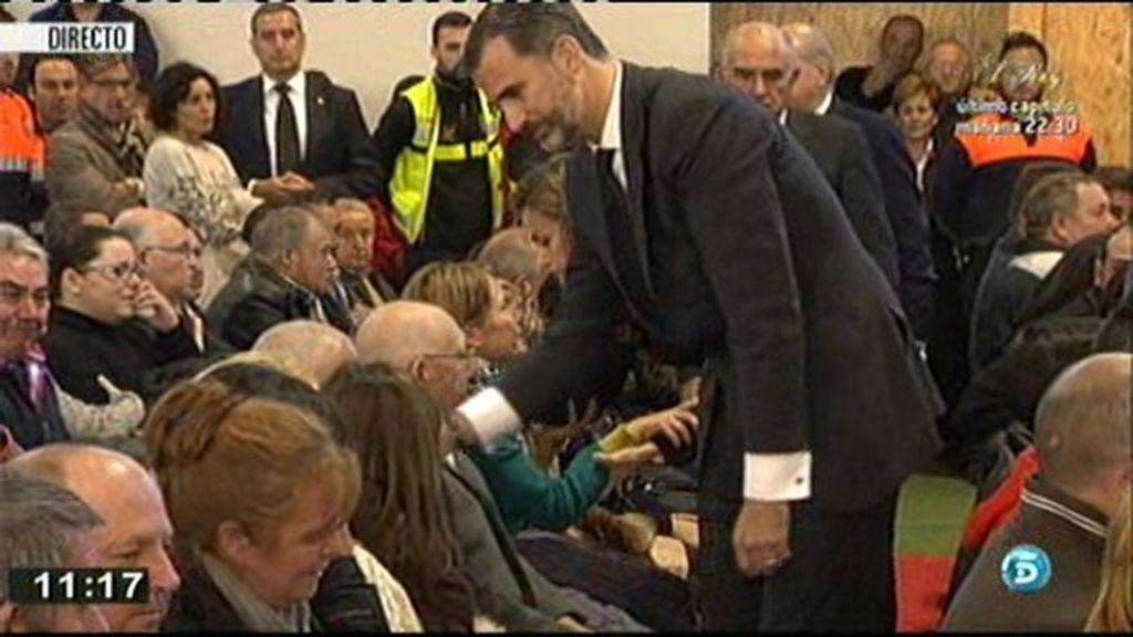 Los Reyes acuden al funeral por las víctimas de Bullas