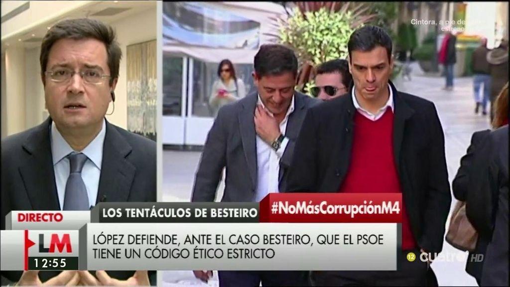 """Óscar López, sobre el caso Besteiro: """"El PSOE tiene un código ético muy estricto y lo aplicamos a rajatabla"""""""